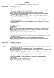 Sourcing Manager Resume Sourcing Manager Resume Samples Velvet Jobs 9