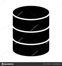データベースのアイコン単純な最小 96 X 96 ピクトグラム ストック