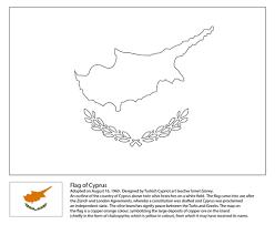 Vlag Van Cyprus Kleurplaat Gratis Kleurplaten Printen