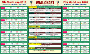 Printable Fifa World Cup 2018 Fixtures Schedule