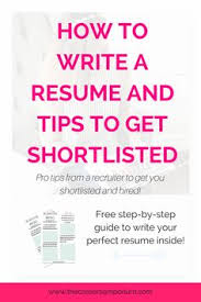 How To Choose A Good Resume Format Best Resume Tips Pinterest