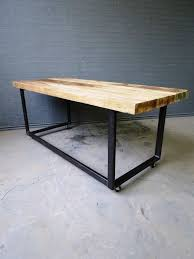 Office tables on wheels Ideas This Our New Custom Desks Wheels Are Optional We Make Custom Furniture For Homes Bars And Restaurants Made From Reclaimed Timber And Steel So This Makes This Our New Custom Desks Wheels Are Optional We Make Custom
