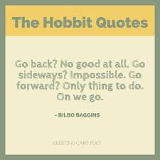 Bilbo Baggins Quotes Classy The Hobbit Quotes From JRR Tolkien Greeting Card Poet