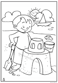 Download this 12 sheet coloring book for children about summertime. Kid Friendly Summer Coloring Page Page 1 Line 17qq Com