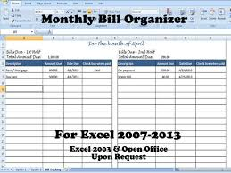 bill organizer template bill organizer template excel divide payments into 1st 2nd half