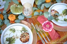 Fall Table Scapes Autumn Color In A Fall Tablescape Seasonal Blog Hop