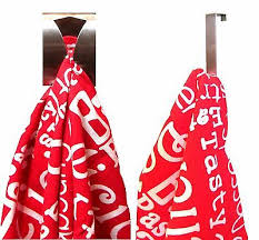 STAINLESS STEEL Self Adhesive Sticky 2 Tea Towel Grabber Holder