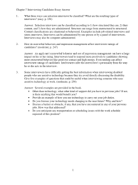 chapter interviewing candidates essay answer interview