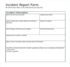 Incident Report Template Microsoft Word Mesmerizing Police Incident Report Template Word Colbroco