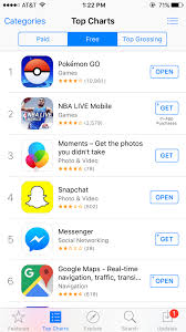 App Store Top Charts Pokemon Go Is The Top Grossing App On The Us App Store Ign
