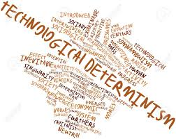 Technological Determinism Abstract Word Cloud For Technological Determinism With Related