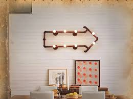 industrial pipe lighting. Creative Industrial Pipe Arrow Formation Lamp -dinning Room Lighting I