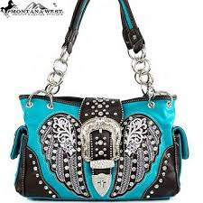 Western Rhinestone Pink Handbag Popular Fashion Purse 3d Country Style Purses
