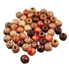 wooden hair beads 20 pcs