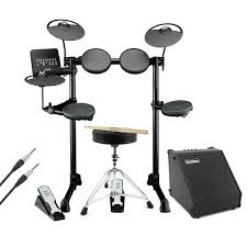 yamaha dtx400k. yamaha dtx400k electronic drum with amp, cable, stool and sticks dtx400k -