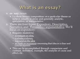 purdue o w l  es· say noun  a short literary composition   purdue o w l 2