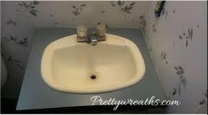 mobile home remodel bathroom vanity sink area