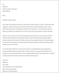 8 Sample Letters Of Recommendation For A Friend Pdf Doc