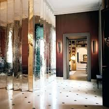 wall mirror ideas view in gallery elegant entryway with a pleated mirror wall full wall mirror wall mirror