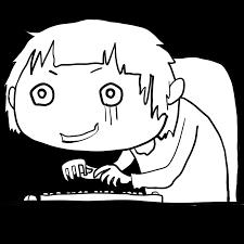ゲームに夢中なニートひきこもり残業パソコン仕事でノイローゼ猫背