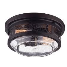 Outdoor Ceiling Lights Home Depot Globe Electric 2 Light Wolfe Bronze Outdoor Flush Mount
