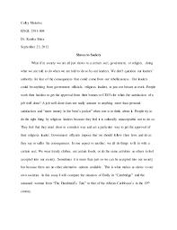 slaves to society essay colby colby mckelva engl 2391 004 dr kanika batra 23 2012 slaves to