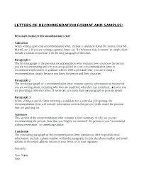 Character Reference Letter For Job Pdf Sample Professional Character Recommendation Letter Format