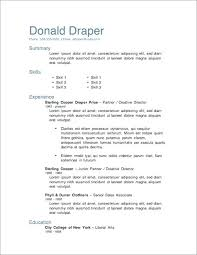 Unique Resumes Templates Word Resume Template 1 Free Download Resume