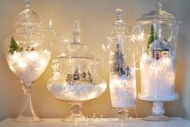 diy tutorial snow globe jars