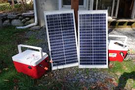 picture of 30w portable solar power generator
