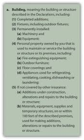 building as defined in iso building and personal property coverage form sample