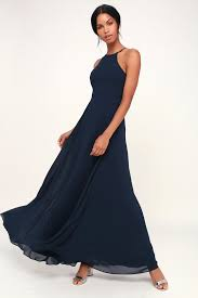 Romance Couture Size Chart Night Of Romance Navy Blue Sleeveless Maxi Dress