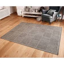 checked flat weave rug