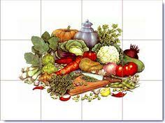 kitchen tiles with fruit design. fruits and vegetables tile designs | on tiles pinterest design kitchen with fruit r