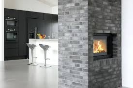 double sided fireplace insert wood burning electric