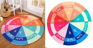 shinybaby kids round rug non slip bottom round area rug children s fun area rug is for 28 99 at com