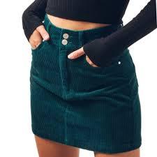 Pacsun Skirt Size Chart Pacsun Skirts Nwot Pac Sun Double Button Corduroy Skirt Sz