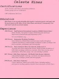 Resume Dance Instructor Resume
