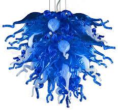 large blue love chandelier