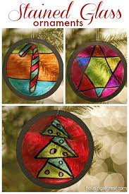 homemade ornaments are a fun craft recycled stained glass ornaments