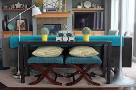 Creativity Decorate Sofa Table Behind Couch How To Style A Console Inside Decor