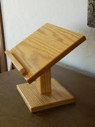 Wooden Book Display Stand Cook Book Stand Mini Podium Oak Stand Book By LightandLaughter 73