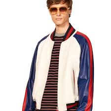 outerwear white tommy hilfiger hilfiger edition colorblock leather er jacket mens bright white