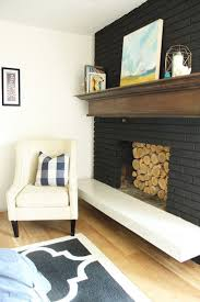 how to paint a brick fireplace look like stone painted interior before and after ideas inside