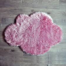 pink cloud sheepskin rug