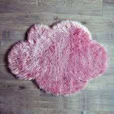 pink cloud sheepskin rug