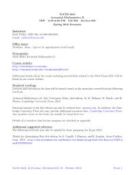Math 3631 Actuarial Mathematics Ii Mw 3 35