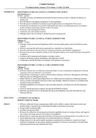Registered Nurse Clinical Coordinator Resume Samples
