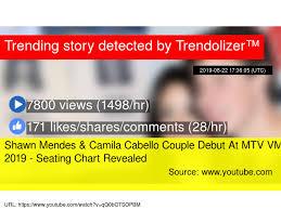 Shawn Mendes Seating Chart Shawn Mendes Camila Cabello Couple Debut At Mtv Vmas 2019