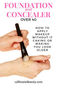 concealer and foundation over 40 how to avoid caking
